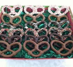 Happy Holiday Pretzel Basket